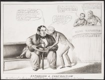 Image of Expansion and contraction as witnessed in the Senate March 5, 1840 during Mr. Buchanan's remarks on currency. - Sarony, Napoleon, 1821-1896